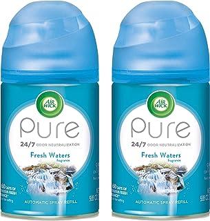 Air Wick Pure Freshmatic 2 Refills Automatic Spray, Fresh Waters, 2ct, Air Freshener,..