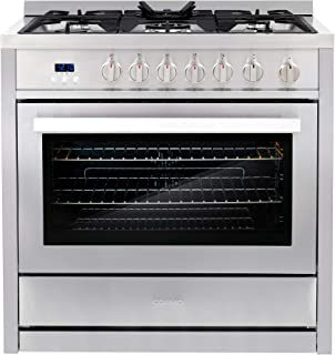 Cosmo COS-965AGC 36 in. Gas Range with 5 Burner Cooktop, 3.8 cu. ft. Capacity Rapid..