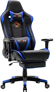 Ficmax Ergonomic Gaming Chair with Footrest Reclining Computer Gaming Chair with Massage,..