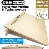 Pente d'écriture A3 ergonomique pour une meilleure posture d'écriture - de ZIELER® Easywriter. Finition en bois laqué de haute qualité avec un angle de 20 °. Conception compacte