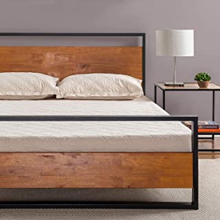 Zinus Suzanne Metal and Wood Platform Bed with Headboard and Footboard / Box Spring..