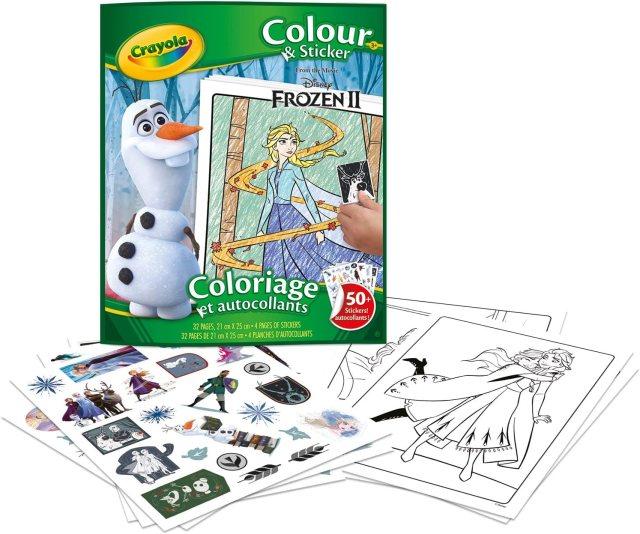 Crayola - Album de coloriage et autocollants la Reine des Neiges 17