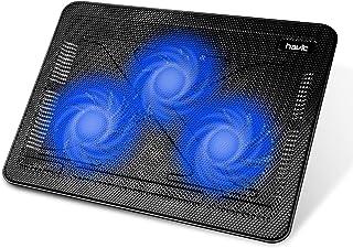 """Sponsored Ad - havit HV-F2056 15.6""""-17"""" Laptop Cooler Cooling Pad - Slim Portable USB Powered (3 Fans), Black/Blue"""
