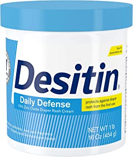 Desitin Daily Defense Baby Diaper Rash Cream with 13% Zinc Oxide, Barrier Cream to Treat, Relieve & Prevent Diaper Rash, H...