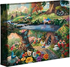 Thomas Kinkade Studios Alice In Wonderland 8 x 10 Gallery Wrapped Canvas