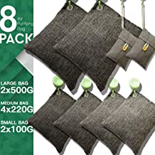 DTXDTech Bamboo Charcoal Bags 8 Pack (2X500 G) (4X220 G) (2X100 G) Activated Bamboo..