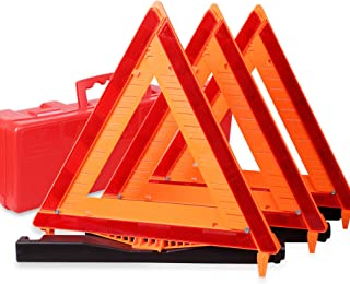 CARTMAN Warning Triangle DOT Approved 3PK, Identical to: United States FMVSS 571.125,..