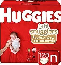 Huggies Little Snugglers Baby Diapers, Size Newborn, 128 Ct