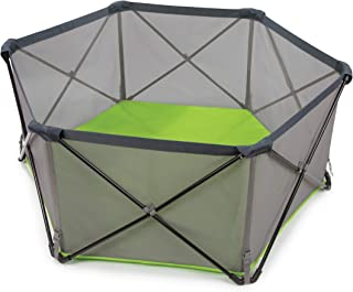 Summer Pop 'n Play Portable Playard, Green – Lightweight Play Pen for Indoor and..