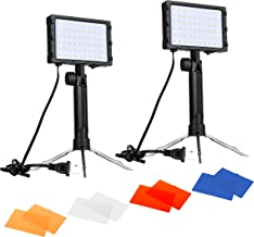 Emart 60 LED Continuous Portable Photography Lighting Kit for Table Top Photo Video..
