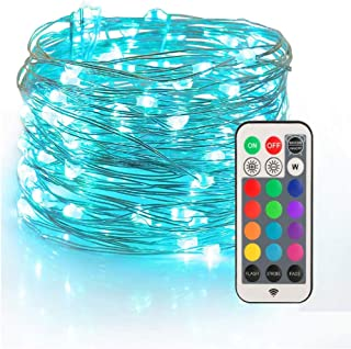 YIHONG Fairy String Lights USB Powered, 33ft Twinkle Lights with RF Remote, Color..