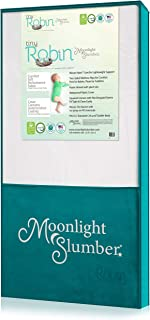 Moonlight Slumber Breathable Dual Sided Baby Crib Mattress. Firm Sided for Infants Reverse to Soft Side for Toddlers Bed. ...