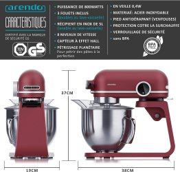 Arendo - Robot pâtissier professionnel Leader de 5 litres