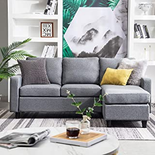 HONBAY Reversible Sectional Sofa Couch 3-seat Couch Sofa Sectional L Shape Couch for..