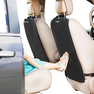 Enovoe Back Seat Protector for Kids – 2 Pack – Premium Quality Car Kick Mats..