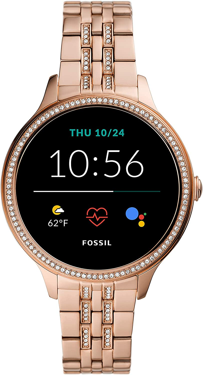 Fossil Women's Gen 5E 42mm Stainless Steel Touchscreen Smartwatch with Speaker, Heart Rate, Contactless Payments and Smartphone Notifications