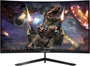 Sceptre 24-Inch Curved 144Hz Gaming LED Monitor Edge-Less AMD FreeSync DisplayPort HDMI,..