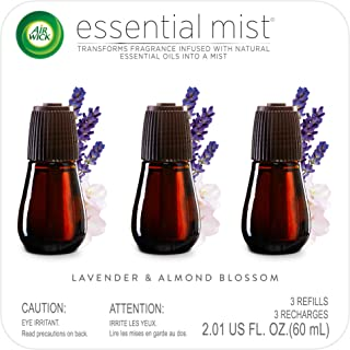 Air Wick Essential Mist, Essential Oil Diffuser Refill, Lavender & Almond Blossom, 3..