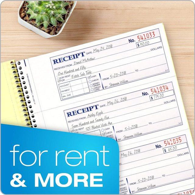 Buy Adams Money and Rent Receipt Book, 24-Part Carbonless, 24-24/24 x