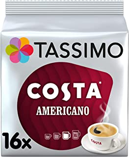 TASSIMO Costa Americano 16 T DISCs (Pack of 5, Total 80 T DISCs)