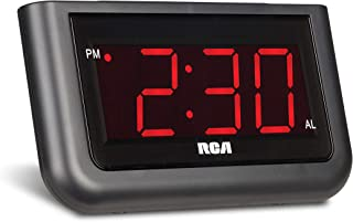 "RCA Digital Alarm Clock – Large 1.4"" LED Display with Brightness Control and.."