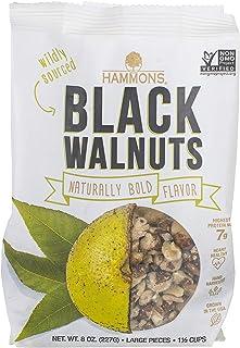 Hammons Black Walnuts, Fancy Large, 8 oz, Highest Protein Nut, Heart Healthy, Non-GMO, Naturally Gluten-Free, Top Keto Nut