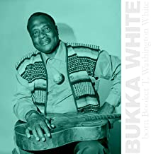 Booker White album cover featuring Bukka White with a guitar across his lap