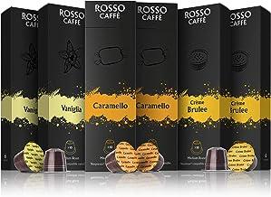 Rosso Coffee Capsules for Nespresso Original Machine – 60 Gourmet Espresso Pods..
