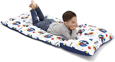 Disney Mickey Mouse Padded Toddler Easy Fold Nap Mat With Attached Pillow Case –..