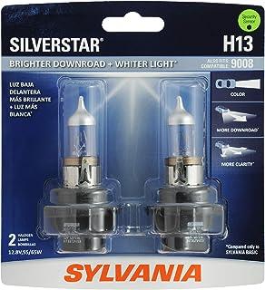 SYLVANIA H13 SilverStar High Performance Halogen Headlight Bulb, (Contains 2 Bulbs)