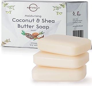 O Naturals 3 Piece Moisturizing Organic Coconut Oil, Shea Butter Bar Soaps. Softens,..