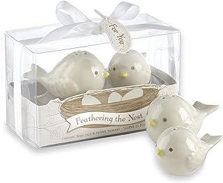 Kate Aspen Feathering The Nest Ceramic Birds Salt and Pepper Shakers