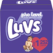 Diapers Newborn/Size 1 (8-14 lb), 252 Count – Luvs Ultra Leakguards Disposable Baby..