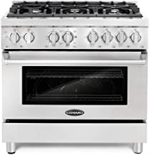Cosmo COS-DFR366 Freestanding Professional Style Dual Fuel Range with 4.5 cu. ft...