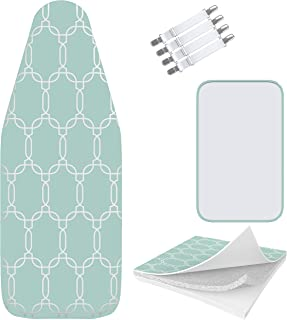 Balffor Silicone Wider Ironing Board Cover and Pad – Scorch Proof TriFusion Iron..