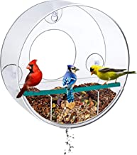 Birdious Circular Window Bird Feeder with Strong Suction Cups and Removable Tray: Watch..