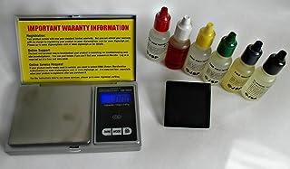 Kit de pruebas de oro, platino y plata con báscula digital de bolsillo