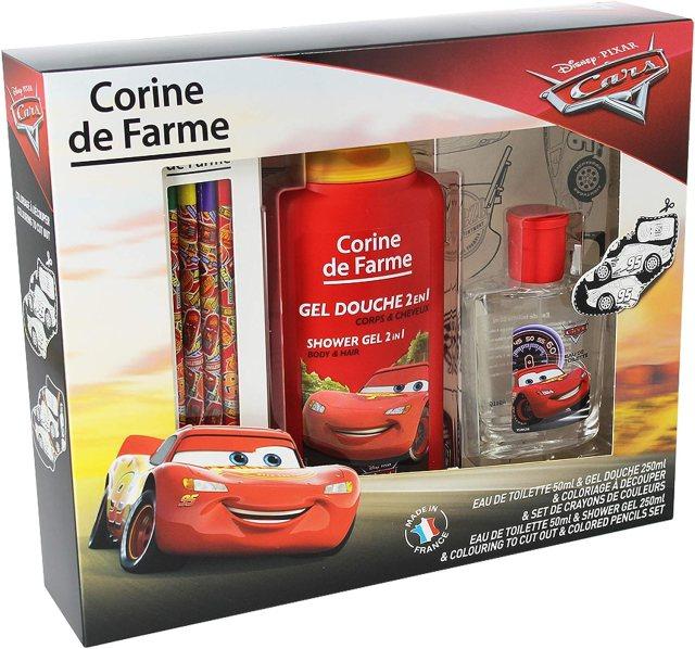 Corine De Farme  Cars Coffret Cadeau  Disney Parfum Enfant 30ml  Gel  Douche Enfant 230ml  Coloriage Enfant  Crayons de couleurs Fabriqué en