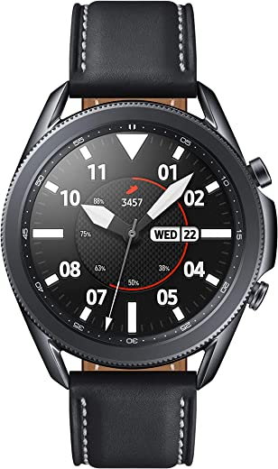 Samsung Galaxy Watch 3 (45mm, GPS, Bluetooth) Smart Watch with Advanced Health monitoring, Fitness Tracking , and Long lasting Battery - Mystic Black (US Version)