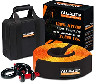 ALL-TOP Nylon Heavy Duty Tow Strap Recovery Strap Kit : 3 inch x 30 ft (35,000 lbs) 100%..