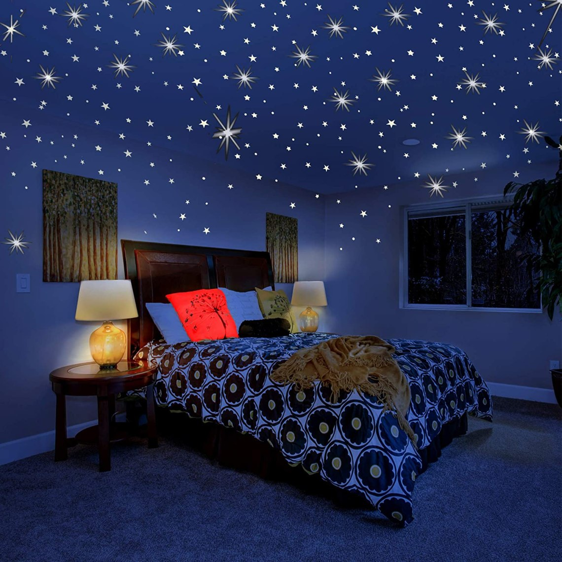 Buy Glow In The Dark Stars For Ceiling Or Wall Stickers Glowing Wall Decals Stickers Room Decor Kit Galaxy Glow Star Set And Solar System Decal For Kids Bedroom Decoration