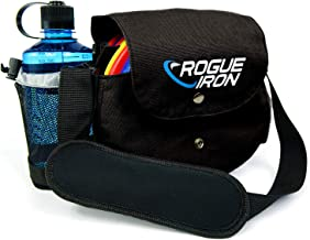 Rogue Iron Disc Golf Bag- Sling Tote Bag for Frisbee Golf – Holds 1-9 Discs, Water..