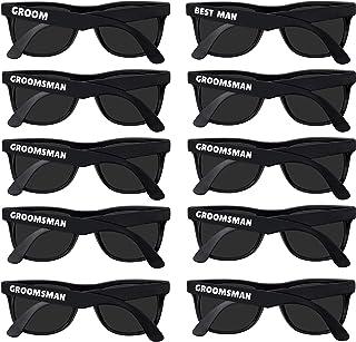 Bachelor Party Supplies – Bulk Wedding Sunglasses for Team Groom. The Groom, Best..