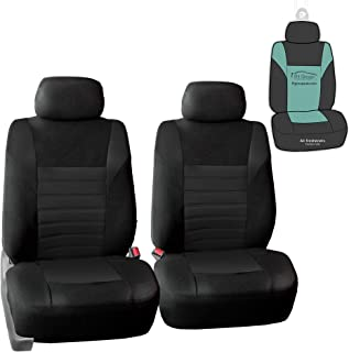 FH Group FB068102 Premium 3D Air Mesh Seat Covers (Black) Front Set with Gift –..