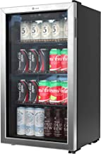 Vremi Beverage Refrigerator and Cooler – 100 to 120 Can Mini Fridge with Glass Door..