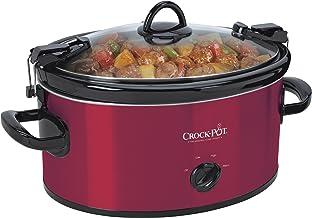 Crock-Pot 6-Quart Cook & Carry Oval Manual Portable Slow Cooker, Red – SCCPVL600-R
