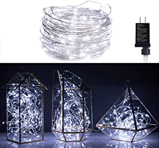 100 LED Fairy Lights 32 Ft Firefly String Lights Waterproof Starry Lights on Silver..