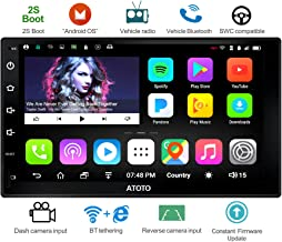 ATOTO A6 Universal 2 Din Android Car Navigation Stereo with Dual Bluetooth –..