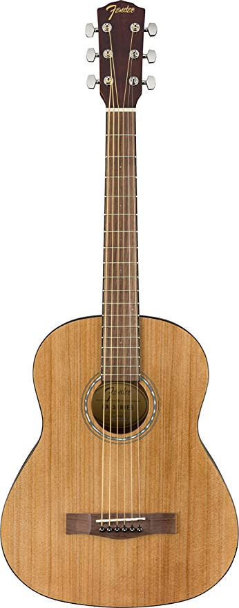 Amazon Com Fender Fa 15 3 4 Scale Steel String Beginner Acoustic Guitar Musical Instruments