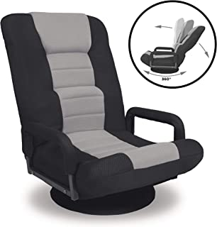Best Choice Products 360-Degree Swivel Gaming Floor Chair w/Armrest Handles, Foldable..